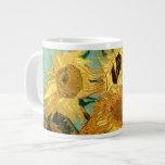 Van Gogh Sunflowers (F455) Vintage Fine Art 20 Oz Large Ceramic Coffee Mug