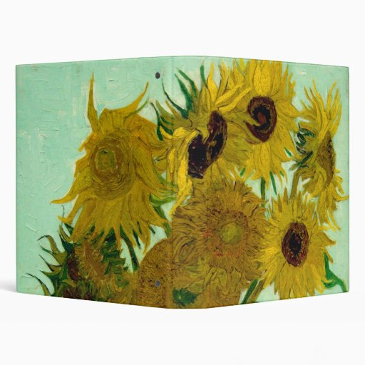 Van Gogh Sunflowers (F456) Vintage Fine Art 3 Ring Binder