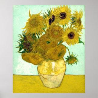 Van Gogh Sunflowers (F456) Vintage Fine Art Poster