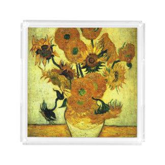Van Gogh - Sunflowers (fourteen) Acrylic Tray