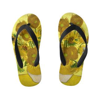 Van Gogh Sunflowers Kid's Flip Flops