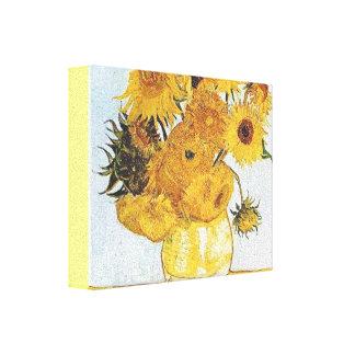 VAN GOGH- SUNFLOWERS-- modified Canvas Print