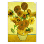 Van Gogh Sunflowers Note Card