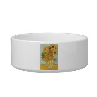 Van Gogh Sunflowers Pet Bowls