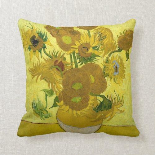 Van Gogh Sunflowers Pillow