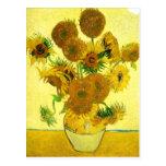 Van Gogh Sunflowers Postcard