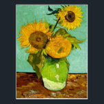 "Van Gogh - Sunflowers, Three Postcard<br><div class=""desc"">Vincent van Gogh&#39;s famous Sunflowers (3) post-Impressionism floral still life painting.</div>"