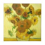 Van Gogh Sunflowers Tile