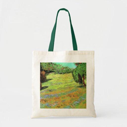 Van Gogh; Sunny Lawn in a Public Park Canvas Bags