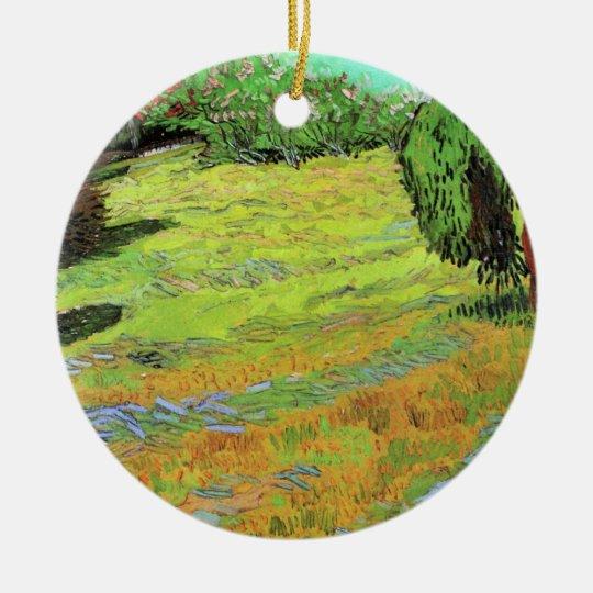 Van Gogh Sunny Lawn in a Public Park, Fine Art Ceramic Ornament