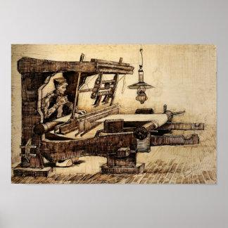 Van Gogh - tejedor Póster