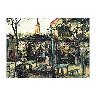 Van Gogh - Terrace of a Cafe on Montmartre Canvas Print