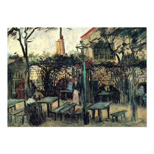 Van Gogh; Terrace of a Cafe on Montmartre Custom Invites