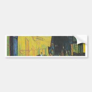 Van Gogh Terrasse des Cafés an der Place du Foru Car Bumper Sticker