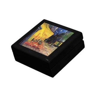 Van Gogh, terraza del café en la noche, bella arte Caja De Regalo