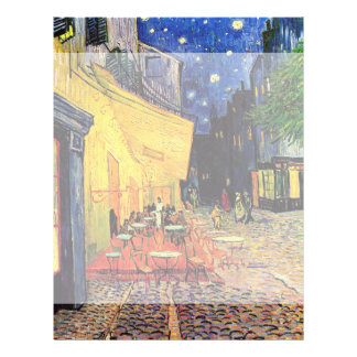 Van Gogh; Terraza del café en la noche, bella arte Tarjetas Publicitarias
