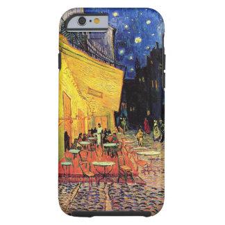 Van Gogh, terraza del café en la noche, bella arte Funda De iPhone 6 Tough
