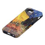 Van Gogh; Terraza del café en la noche, bella arte iPhone 5 Case-Mate Cobertura