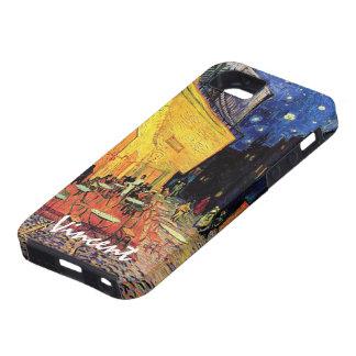 Van Gogh, terraza del café en la noche, bella arte iPhone 5 Case-Mate Cárcasa
