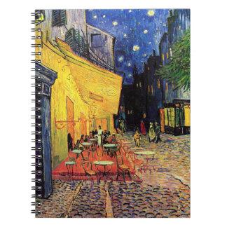 Van Gogh Terraza del café en la noche bella arte Libretas