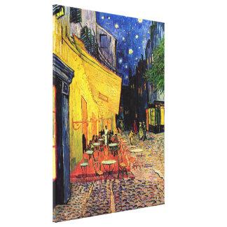 Van Gogh, terraza del café en la noche, bella arte Impresión De Lienzo