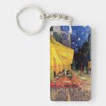 Van Gogh; Terraza del café en la noche, bella arte Llavero