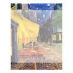Van Gogh, terraza del café en la noche, bella arte Membrete Personalizado