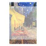 Van Gogh, terraza del café en la noche, bella arte Papelería