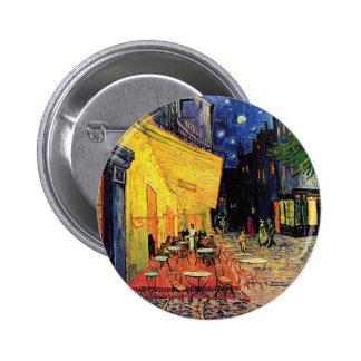 Van Gogh, terraza del café en la noche, bella arte Pin