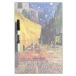 Van Gogh, terraza del café en la noche, bella arte Tableros Blancos