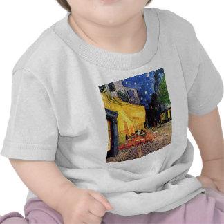 Van Gogh, terraza del café en la noche, bella arte Camiseta