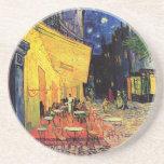 Van Gogh; Terraza del café en la noche, bella arte Posavasos Personalizados