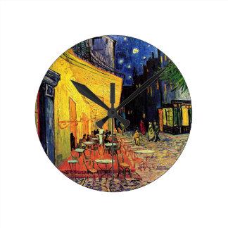 Van Gogh, terraza del café en la noche, bella arte Relojes