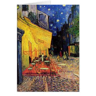 Van Gogh Terraza del café en la noche bella arte Felicitaciones