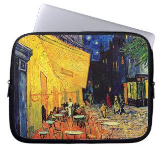 Van Gogh - terraza del café en la noche Fundas Portátiles