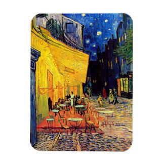 Van Gogh - terraza del café en la noche Imán De Vinilo