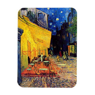 Van Gogh - terraza del café en la noche Imanes