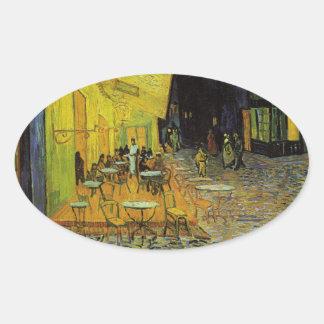 Van Gogh; Terraza del café en la noche Colcomanias Ovaladas