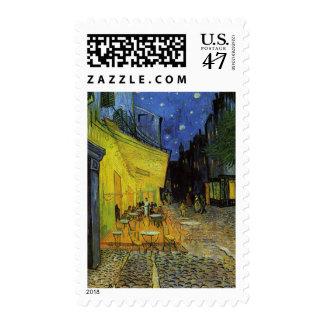 Van Gogh; Terraza del café en la noche Sello Postal