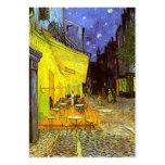 Van Gogh: Terraza del café en la noche Plantillas De Tarjetas Personales