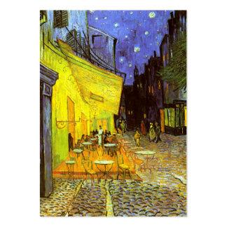 Van Gogh: Terraza del café en la noche Tarjetas De Visita Grandes