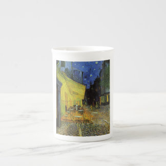 Van Gogh; Terraza del café en la noche Taza De Porcelana