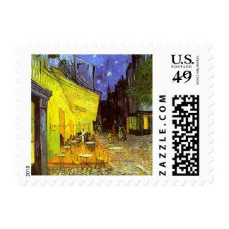 Van Gogh: Terraza del café en la noche Timbre Postal