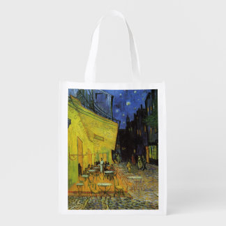 Van Gogh; Terraza del café en la noche Bolsa Reutilizable