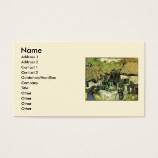 Van Gogh Thatched Cottage Jorgus, Vintage Fine Art Business Card