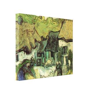Van Gogh Thatched Cottage Jorgus, Vintage Fine Art Canvas Print