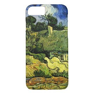 Van Gogh Thatched Cottages at Cordeville, Fine Art iPhone 8/7 Case