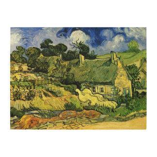 Van Gogh; Thatched Cottages at Cordeville Wood Print