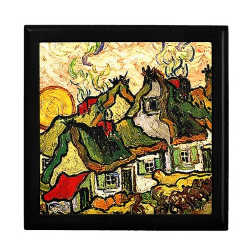 Van Gogh: Thatched Cottages in the Sunshine Jewelry Box