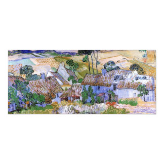 Van Gogh Thatched Roof Cottages by Hill, Fine Art Card
